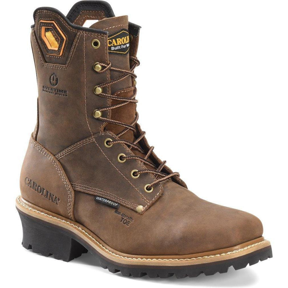 "Carolina Men's Coppice 8"" Composite Toe WP Work Boot - Brown - CA9855 8 / Medium / Brown - Overlook Boots"