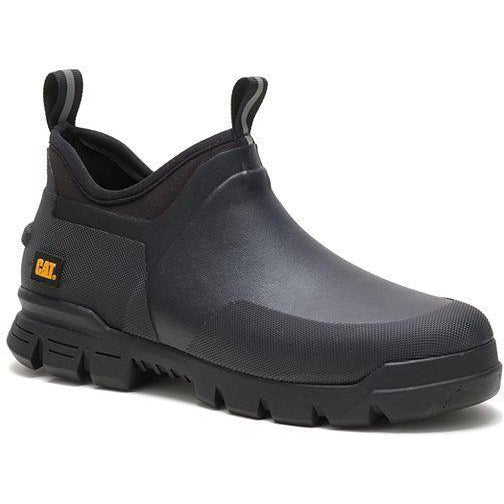 CAT Unisex Stormers Soft Toe Waterproof Rubber Shoe - Black - P724483 4 / Medium / Black - Overlook Boots