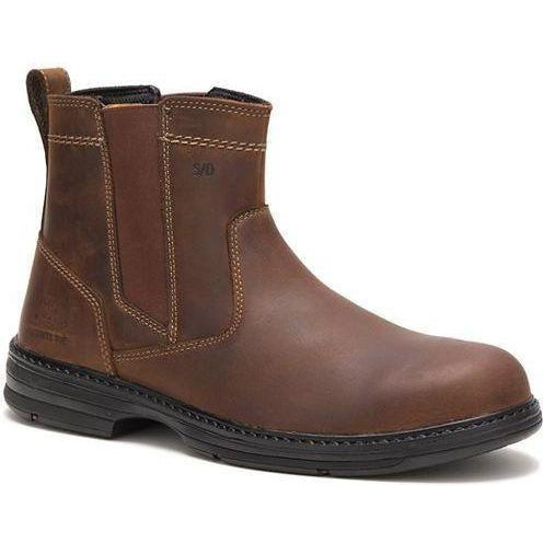 CAT Men's Inherit Steel Toe Waterproof Pull On Work Boot - Brown - P90478 7 / Medium / Brown - Overlook Boots