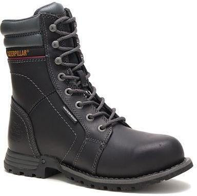 CAT Women's Echo Steel Toe WP Rubber Outsole Work Boot - Black - P90899 5 / Medium / Black - Overlook Boots