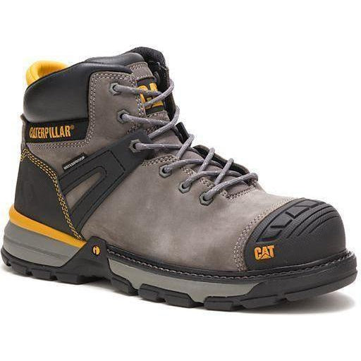 CAT Men's Excavator Superlite Nano Toe WP Work Boot - Pewter - P91197 7 / Medium / Pewter - Overlook Boots