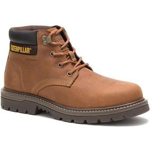 CAT Men's Outbase Steel Toe Waterproof Work Boot - Brown - P91209 7 / Medium / Brown - Overlook Boots