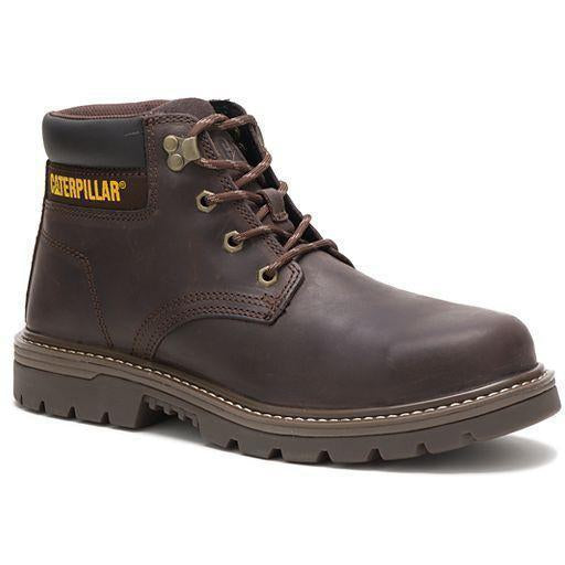 CAT Men's Outbase Steel Toe WP Work Boot - Coffee Bean - P91212 7 / Wide / Brown - Overlook Boots
