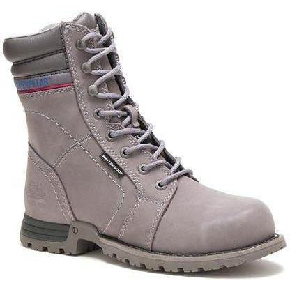 CAT Women's Echo Waterproof Steel Toe Work Boot - Grey - P90565  - Overlook Boots