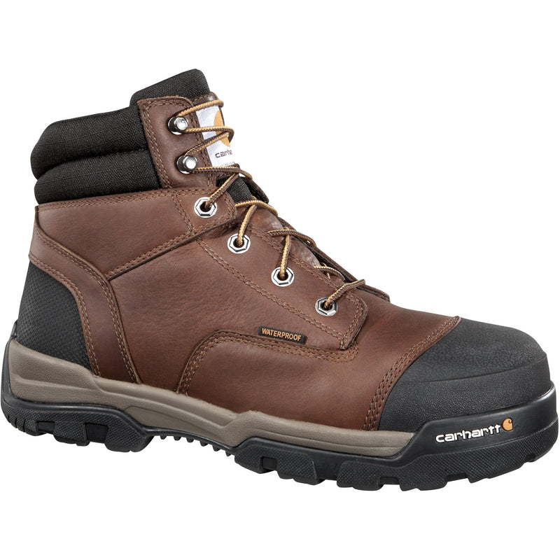 "Carhartt Men's Ground Force 6"" Comp Toe WP Work Boot - Brown - CME6355  - Overlook Boots"