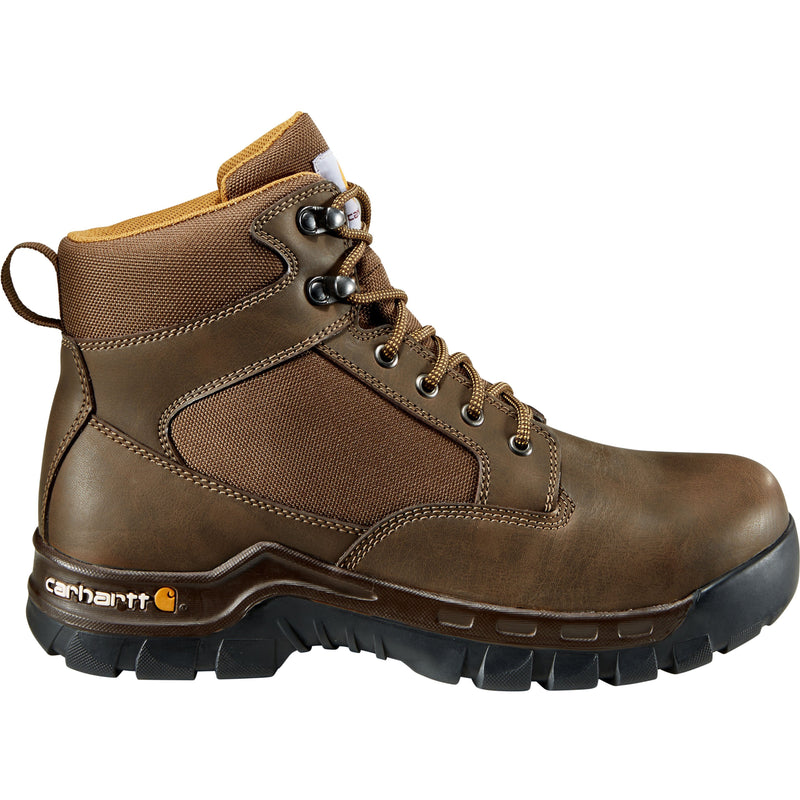 "Carhartt Men's Rugged Flex 6"" Steel Toe Work Boot - Brown - CMF6284  - Overlook Boots"