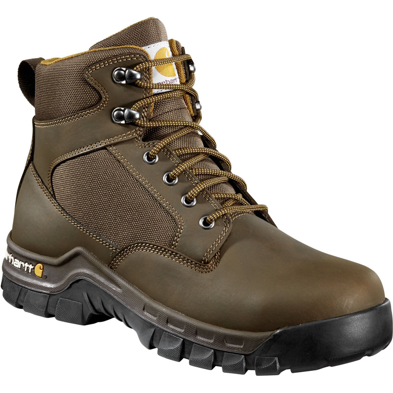 "Carhartt Men's Rugged Flex 6"" Steel Toe Work Boot - Brown - CMF6284 8 / Medium / Brown - Overlook Boots"