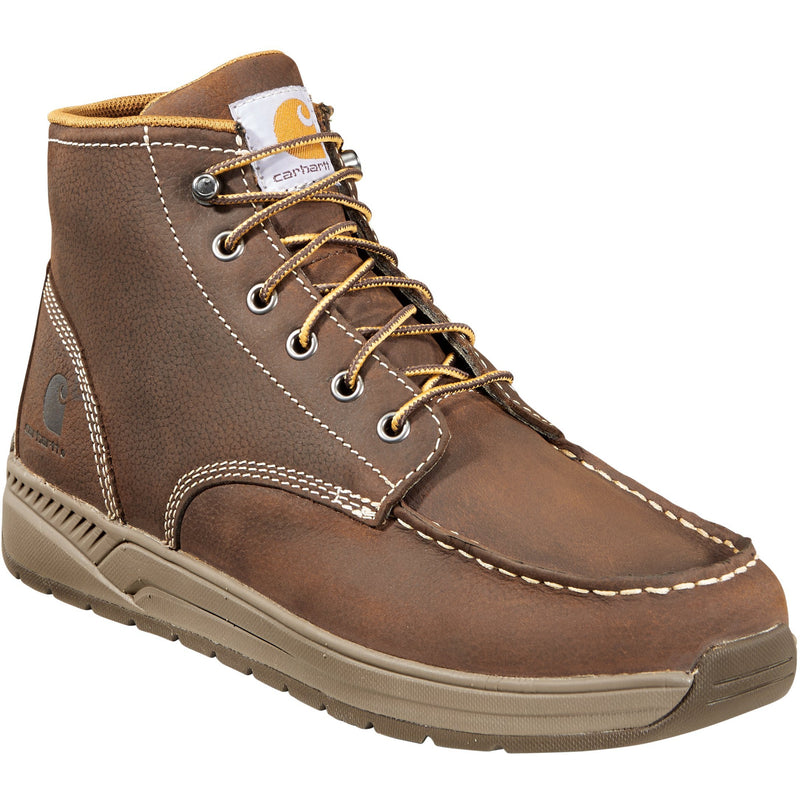 "Carhartt Men's 4"" Lightweight Soft Toe Wedge Work Boot Brown - CMX4023 8 / Medium / Brown - Overlook Boots"