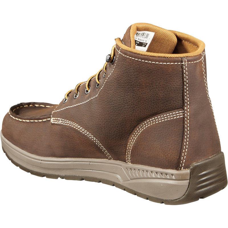 "Carhartt Men's 4"" Lightweight Soft Toe Wedge Work Boot Brown - CMX4023  - Overlook Boots"