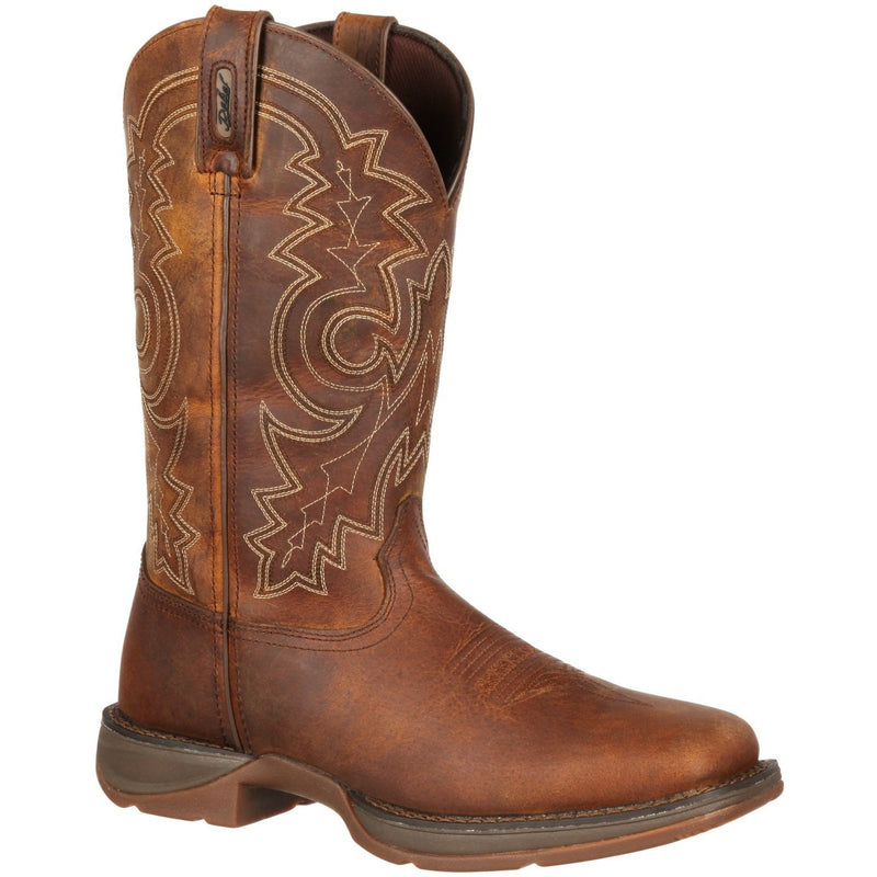 "Durango Men's Rebel 12"" Steel Toe Pull-On Western Work Boot - DB4343 8 / Medium / Brown - Overlook Boots"