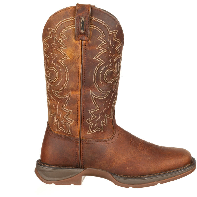 "Durango Men's Rebel 12"" Steel Toe Pull-On Western Work Boot - DB4343  - Overlook Boots"