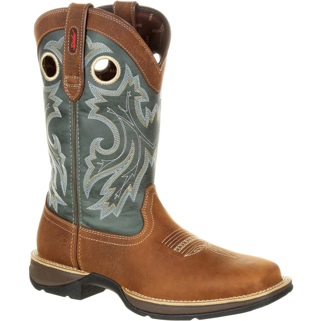 "Durango Men's Rebel 12"" Square Toe Pull-On Western Boot- Clover DDB0131 8 / Medium / Brown - Overlook Boots"