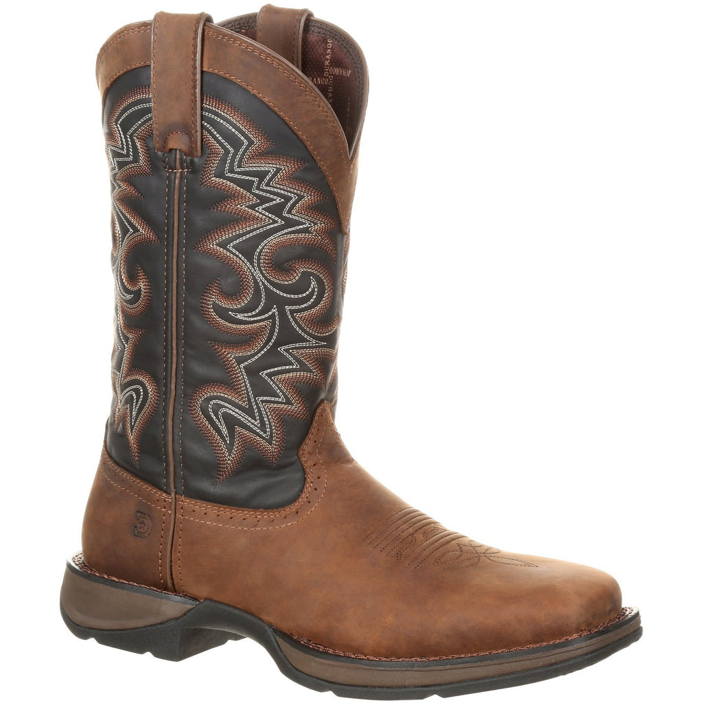 "Durango Men's Rebel 12"" Square Toe Pull-On Western Boot Chocolate DDB0135 7 / Medium / Brown - Overlook Boots"