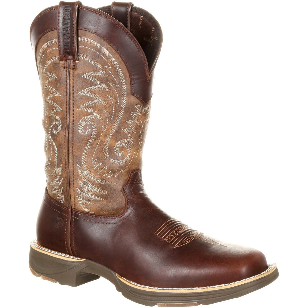 "Durango Men's Ultra-Lite 12"" Square Toe WP Western Boot- Brown- DDB0137 8 / Medium / Brown - Overlook Boots"