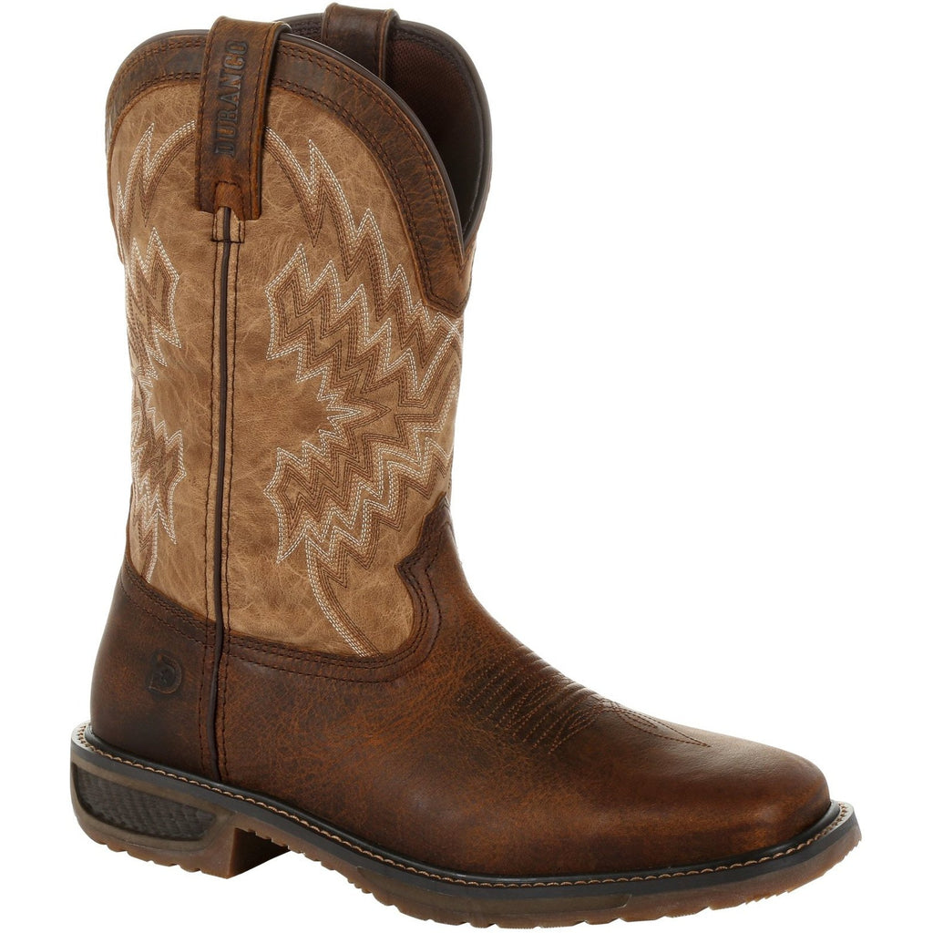 "Durango Men's Workhorse 11"" Steel Toe Western Work Boot- Brown- DDB0184 7 / Medium / Brown - Overlook Boots"
