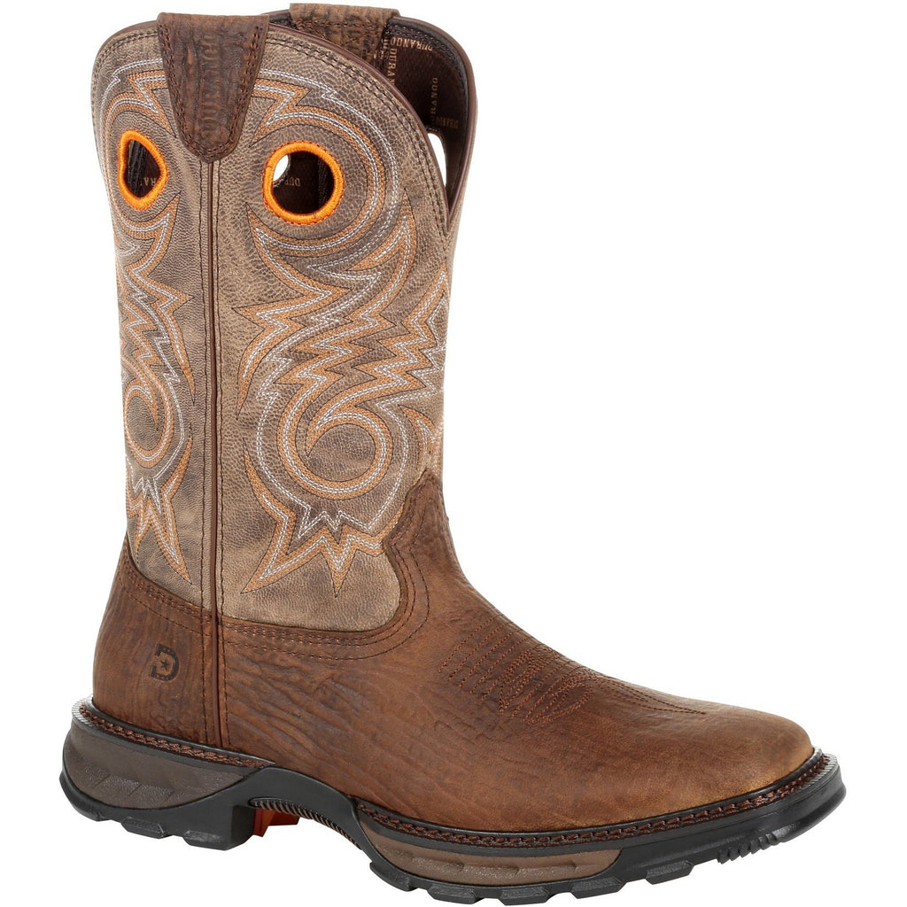 "Durango Men's Maverick XP 11"" Square Toe Western Work Boot - DDB0242 7 / Medium / Brown - Overlook Boots"