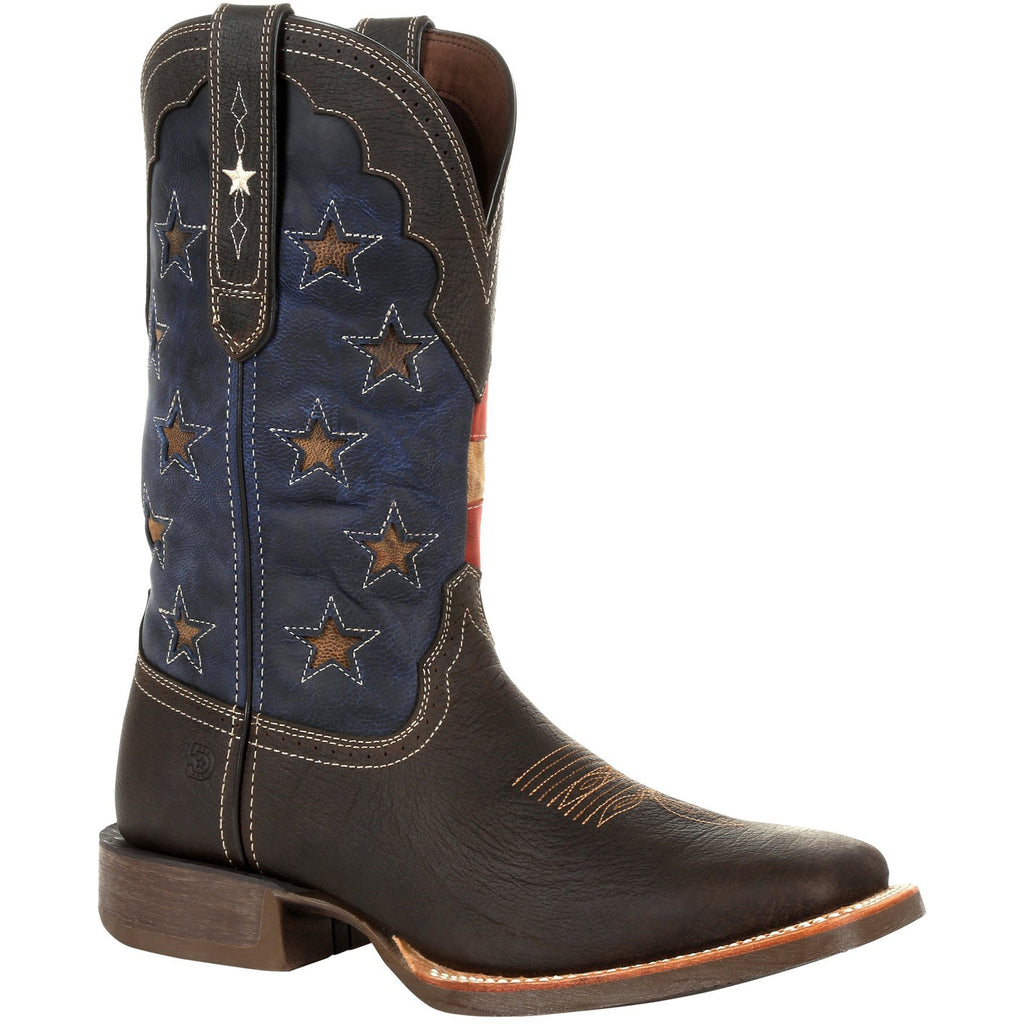 "Durango Men's Rebel Pro Vintage Flag 12"" Sqr Toe Western Boot - DDB0303 7 / Medium / Brown - Overlook Boots"