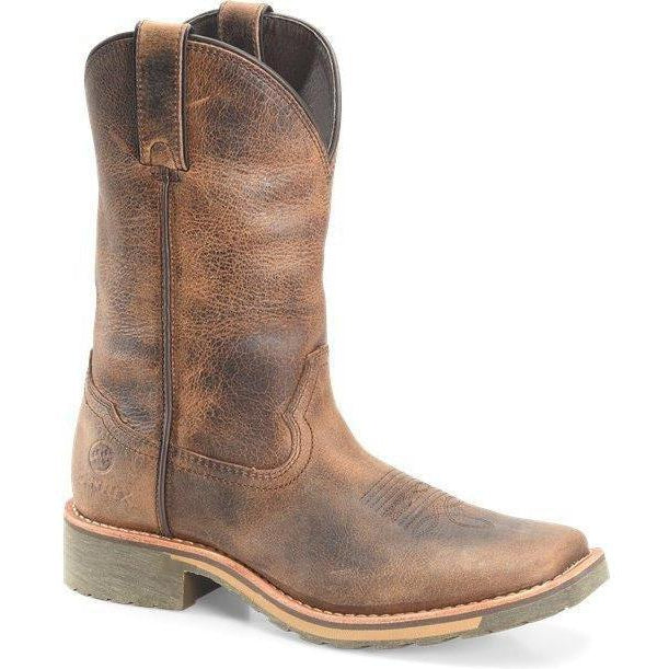 "Double H Women's Trinity 10"" Sqr Toe Western Work Boot- Brown- DH2413 6 / Medium / Brown - Overlook Boots"