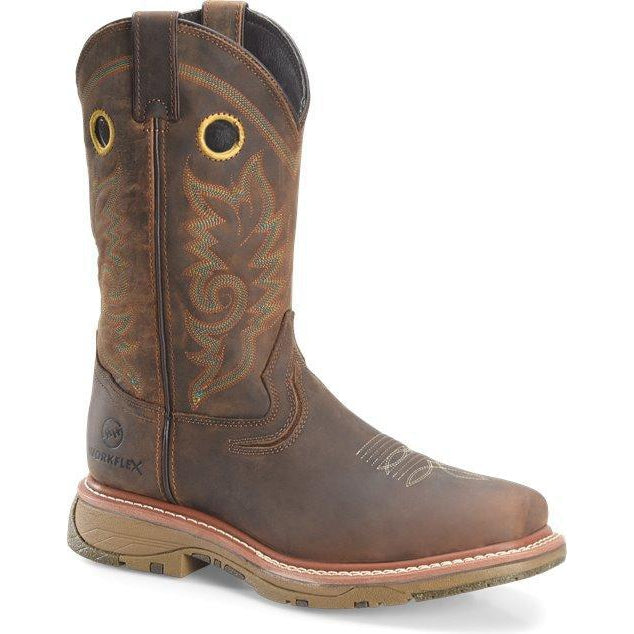 "Double H Men's Elijah 12"" Comp Toe Western Work Boot - Brown - DH5241 7.5 / Medium / Brown - Overlook Boots"