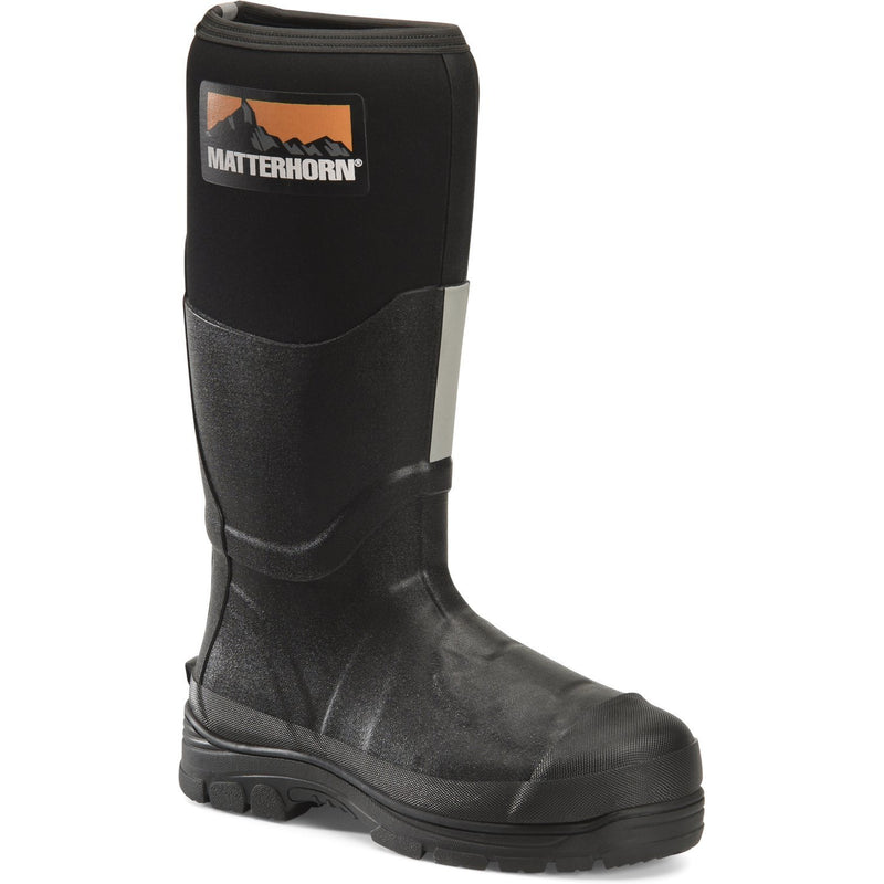 "Matterhorn Men's Mud Jumper 16"" Steel Toe WP MG PR Rubber Work Boot- MT202 8 / Medium / Black - Overlook Boots"