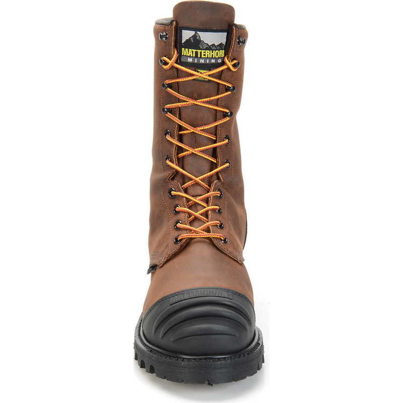 "Matterhorn Men's Copper 10"" Steel Toe WP MG USA Made Work Boot - MT910  - Overlook Boots"