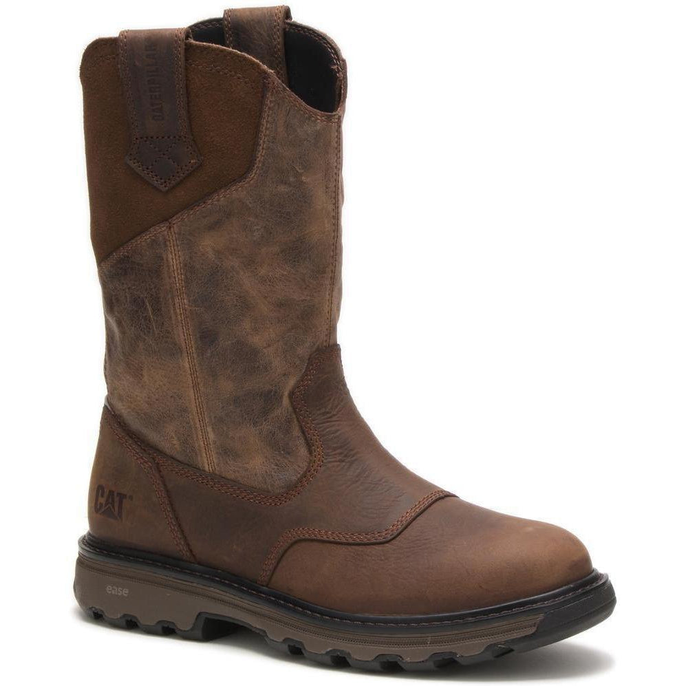 CAT Men's Leeward Soft Toe WP Work Boot - Classic Brown - P51006 7 / Medium / Brown - Overlook Boots