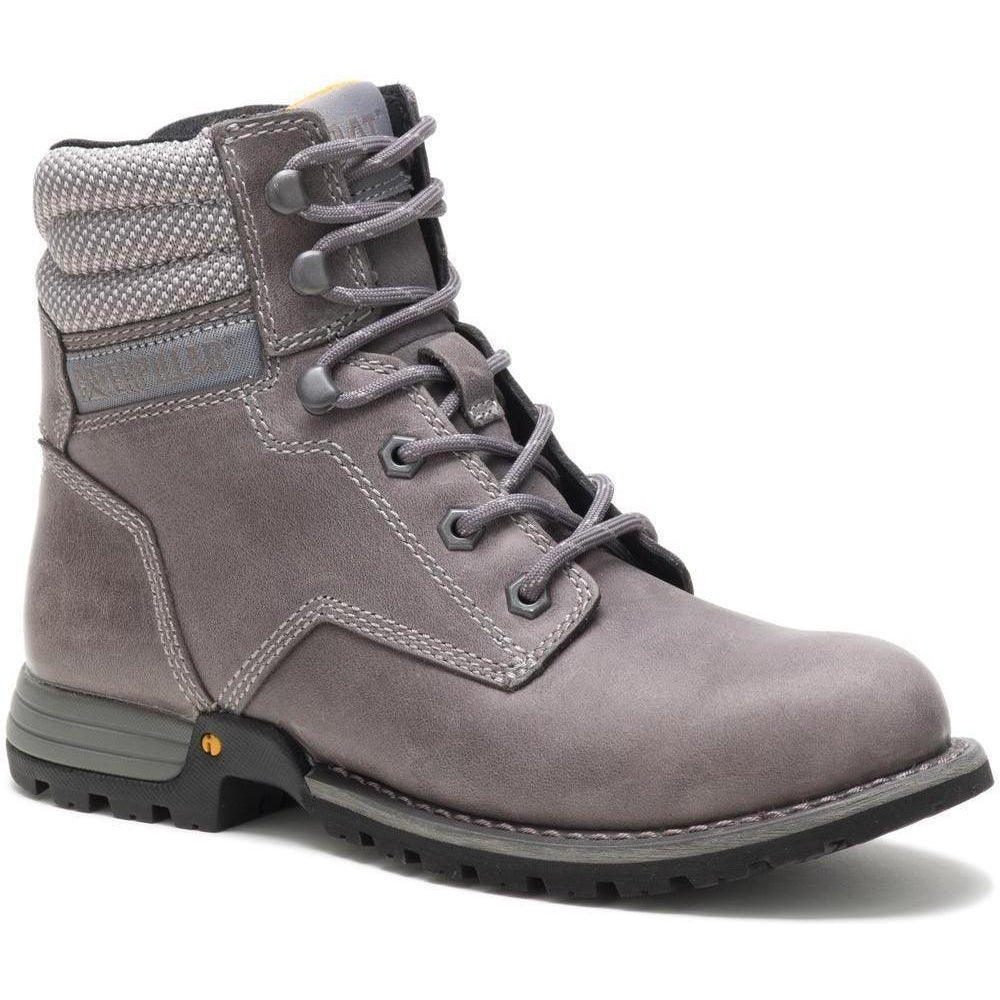 "CAT Women's Paisley 6"" Soft Toe WP PVC Midsole Work Boot - P51021 5 / Medium / Grey - Overlook Boots"