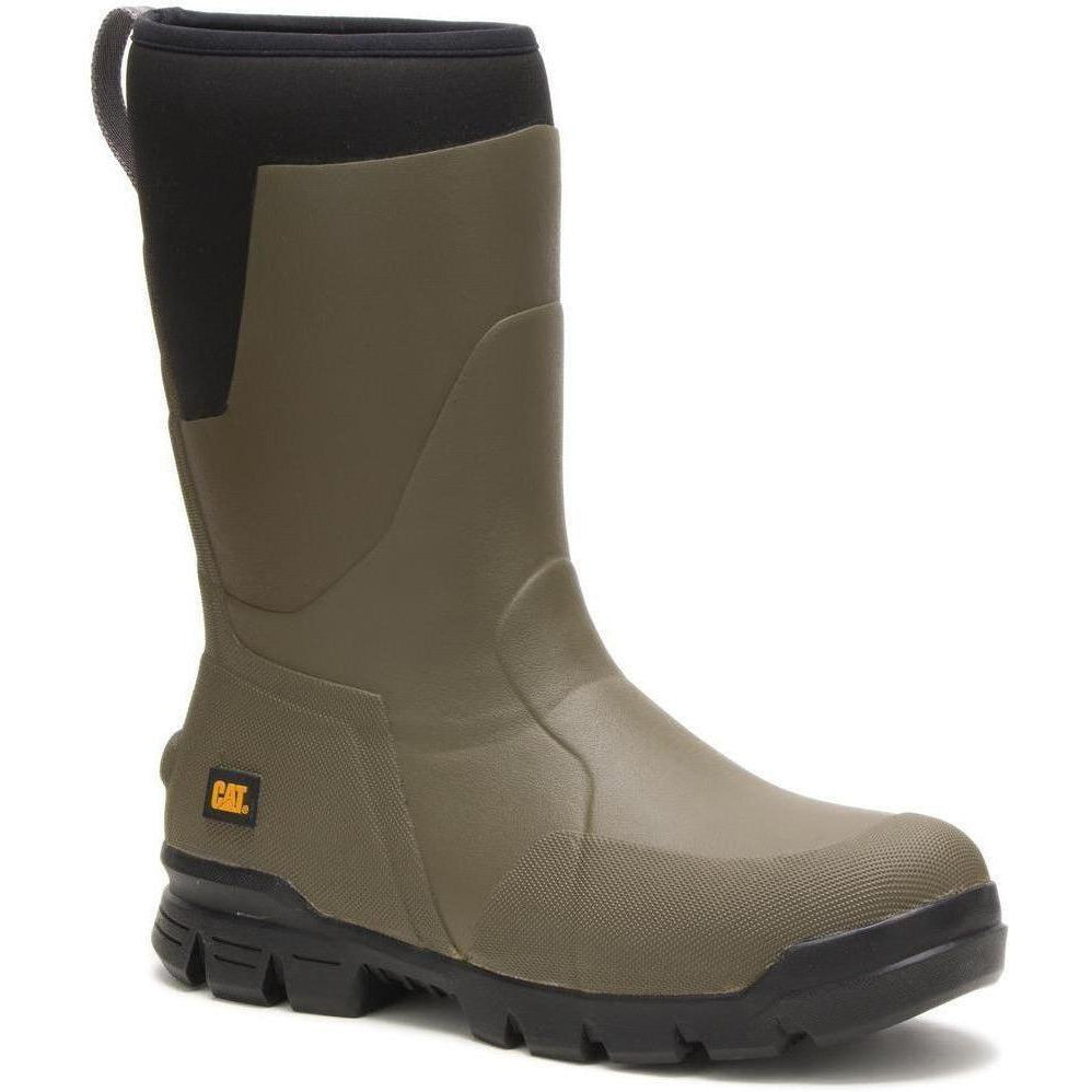 "CAT Men's Stormers 11"" Waterproof Rubber Work Boot - Olive - P723962  - Overlook Boots"