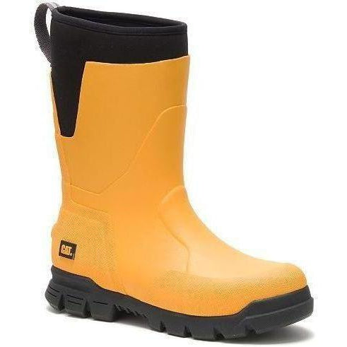 "CAT Men's Stormers 11"" Waterproof Rubber Work Boot - Yellow - P724051 7 / Medium / Yellow - Overlook Boots"