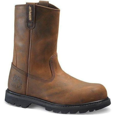 CAT Men's Revolver Steel Toe Pull On Work Boot - Brown - P89516  - Overlook Boots