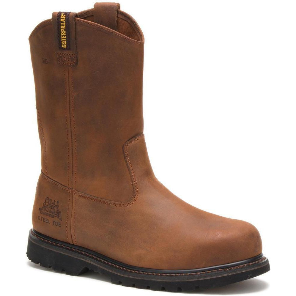 CAT Men's Edgework Steel Toe Pull On Work Boot - Brown - P90085 7 / Medium / Brown - Overlook Boots
