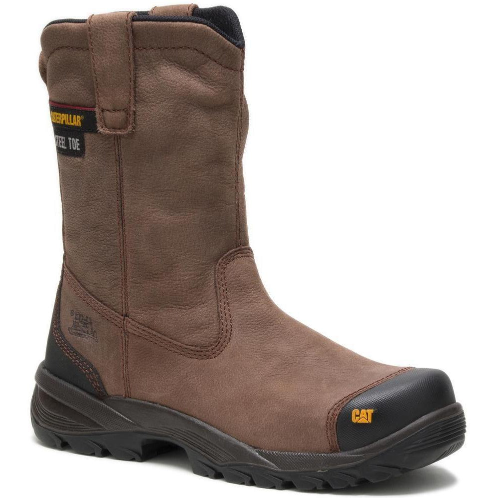 CAT Men's Spur Steel Toe Pull On Work Boot - Brown - P90204 7 / Medium / Brown - Overlook Boots