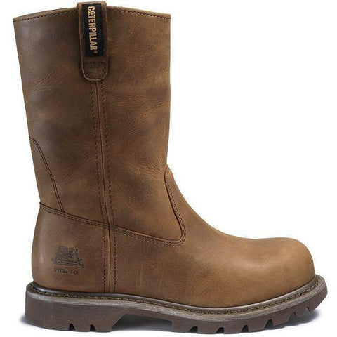 CAT Women's Revolver Steel Toe Work Boot - Brown - P90418  - Overlook Boots