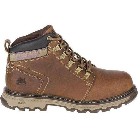 CAT Women's Ellie Steel Toe Work Boot - Brown - P90783 5 / Medium / Brown - Overlook Boots
