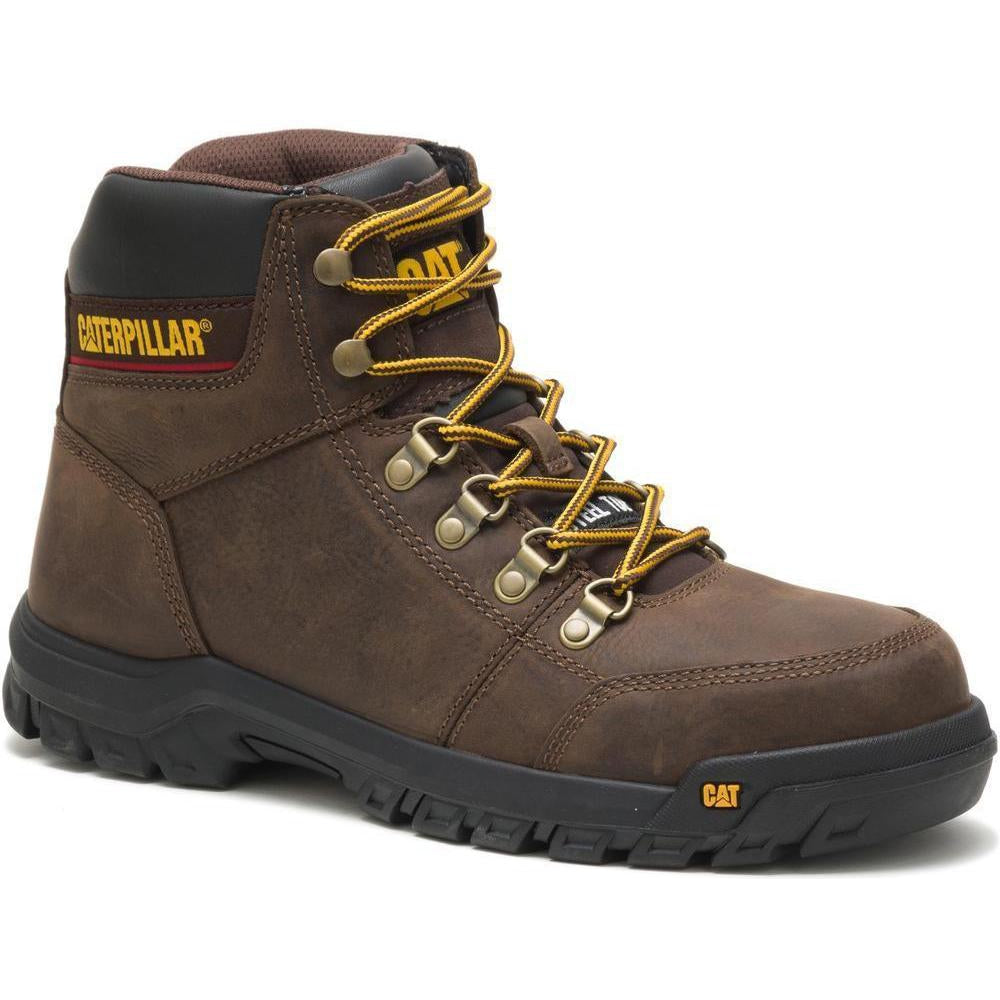 CAT Men's Outline Steel Toe Work Book - Brown - P90803 7 / Medium / Brown - Overlook Boots