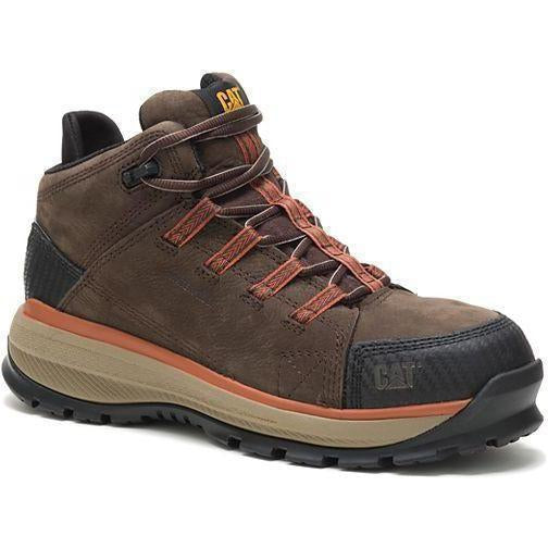 CAT Men's Utilize Waterproof Alloy Toe Work Boot - Brown - P91054 7 / Medium / Brown - Overlook Boots