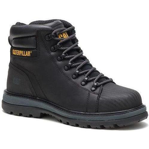 CAT Men's Foxfield Steel Toe Work Boot - Black - P91057 7 / Medium / Black - Overlook Boots