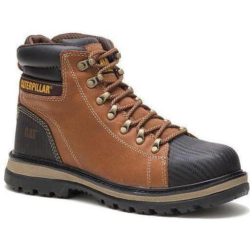 CAT Men's Foxfield Steel Toe Work Boot - Brown - P91058 7 / Medium / Brown - Overlook Boots