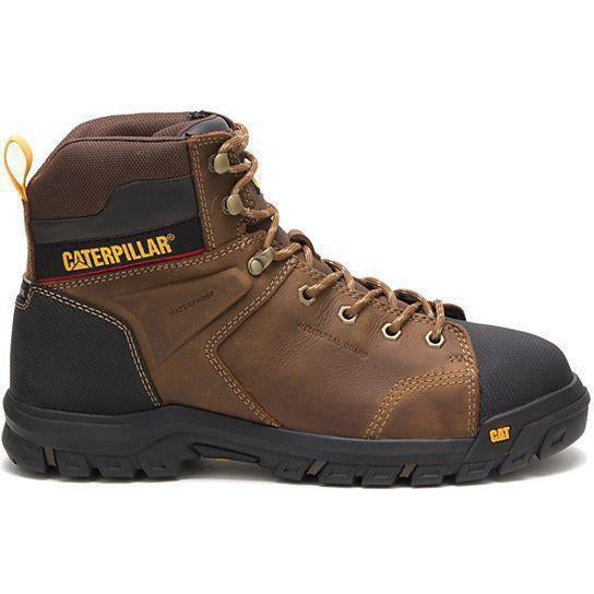 CAT Men's Wellspring Met-Guard Steel Toe WP Work Boot - Brown - P91115 7 / Medium / Brown - Overlook Boots