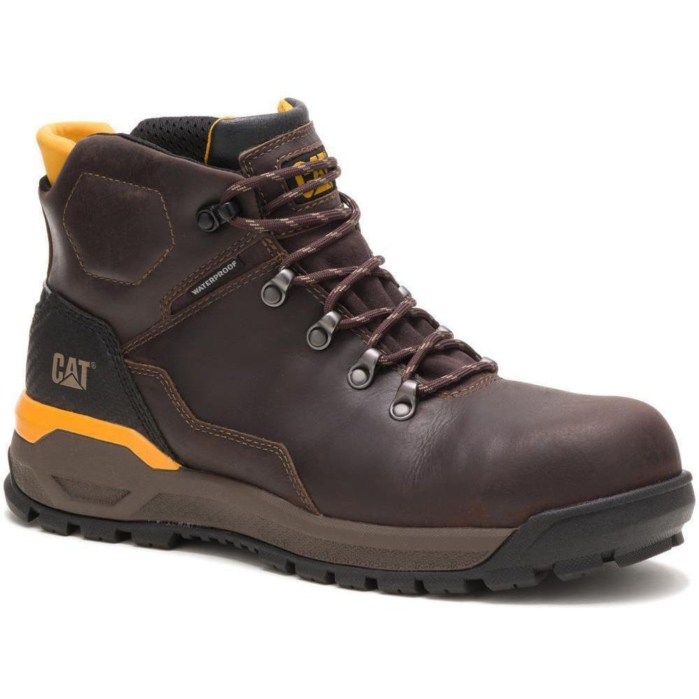 "CAT Men's Kinetic Ice+  6"" Comp Toe WP 200G Thinsulate Work Boot P91135 7 / Medium / Brown - Overlook Boots"