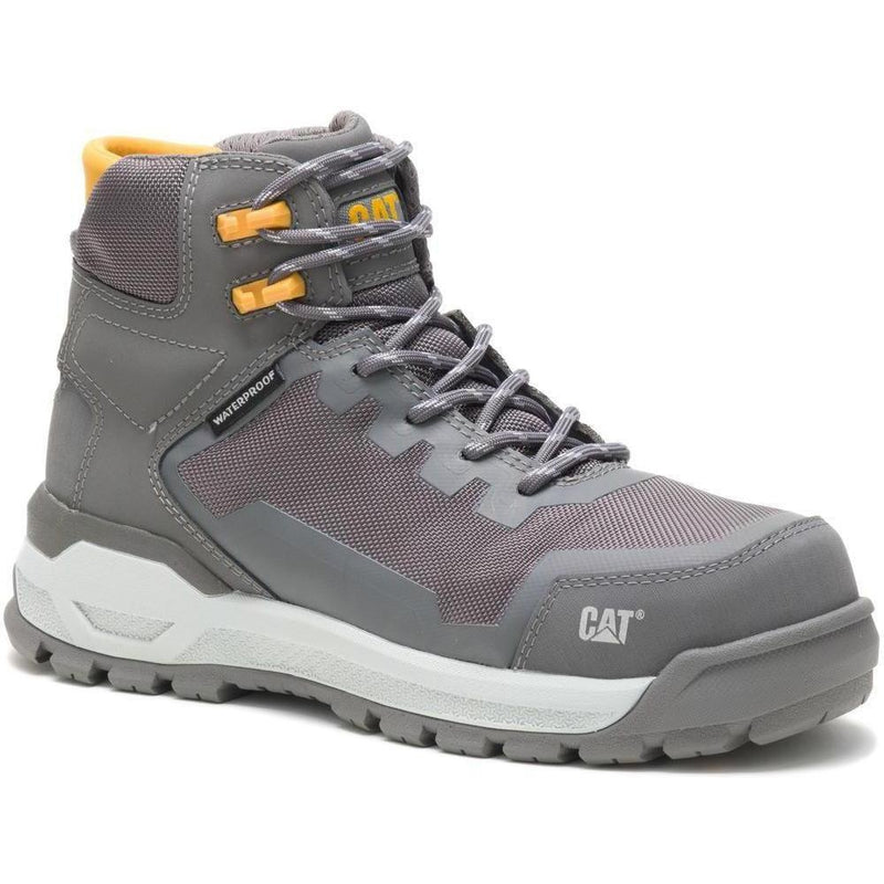 CAT Women's Propulsion Comp Toe WP Work Boot - Charcoal - P91149 5 / Medium / Charcoal - Overlook Boots