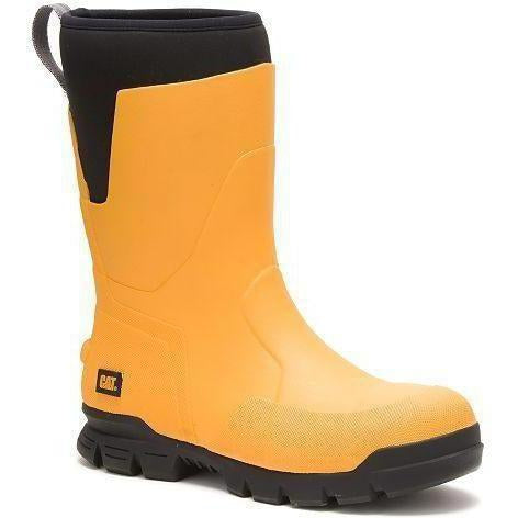 "CAT Men's Stormers 11"" Steel Toe WP Rubber Work Boot - Yellow - P91152 7 / Medium / Yellow - Overlook Boots"