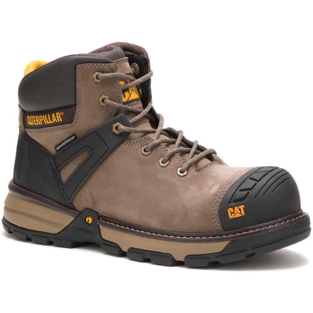 CAT Men's Excavator Superlite Nane Toe WP Work Boot - Bungee Cord - P91198 7 / Medium / Brown - Overlook Boots