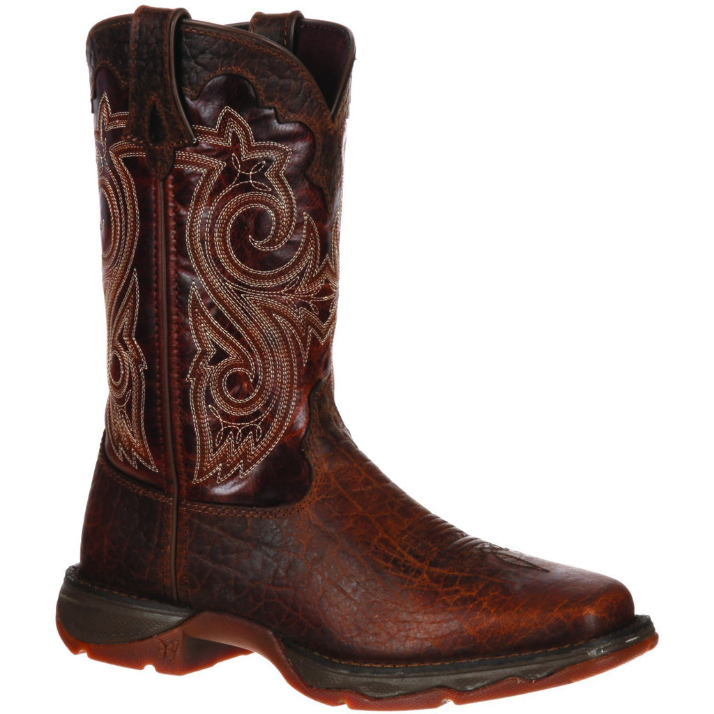 "Durango Women's Lady Rebel 10"" Steel Toe Western Boot - Brown - RD3315 6 / Medium / Brown - Overlook Boots"