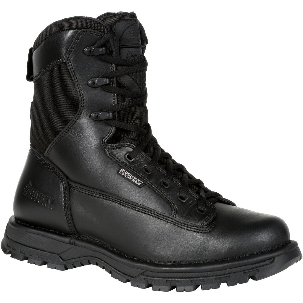 "Rocky Men's Portland 8"" Comp Toe WP Rubber Public Service Boot- RKD0067 7 / Medium / Black - Overlook Boots"