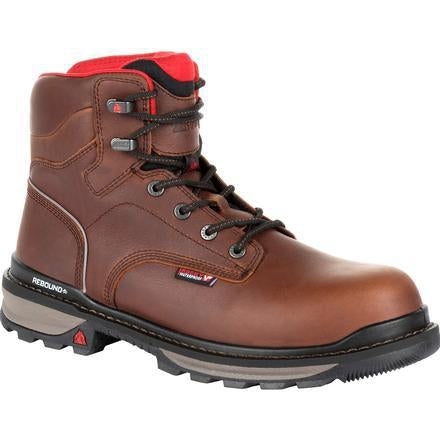 "Rocky Men's Rams Horn 6"" WP Work Boot - Brown - RKK0259 8 / Medium / Brown - Overlook Boots"