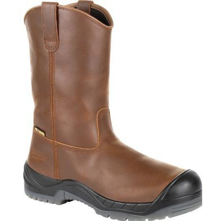 "Rocky Men's Worksmart 11"" Comp Toe MG WP Work Boot - Brown - RKK0264 8 / Medium / Brown - Overlook Boots"