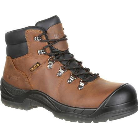 "Rocky Men's Worksmart 6"" Comp Toe MG WP Work Boot - Brown - RKK0266 8 / Medium / Brown - Overlook Boots"