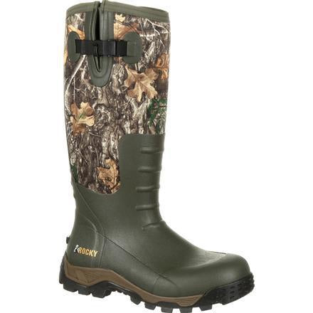 Rocky Men S Sport Pro Rubber 16 Quot Wp Side Zip Hunt Boot