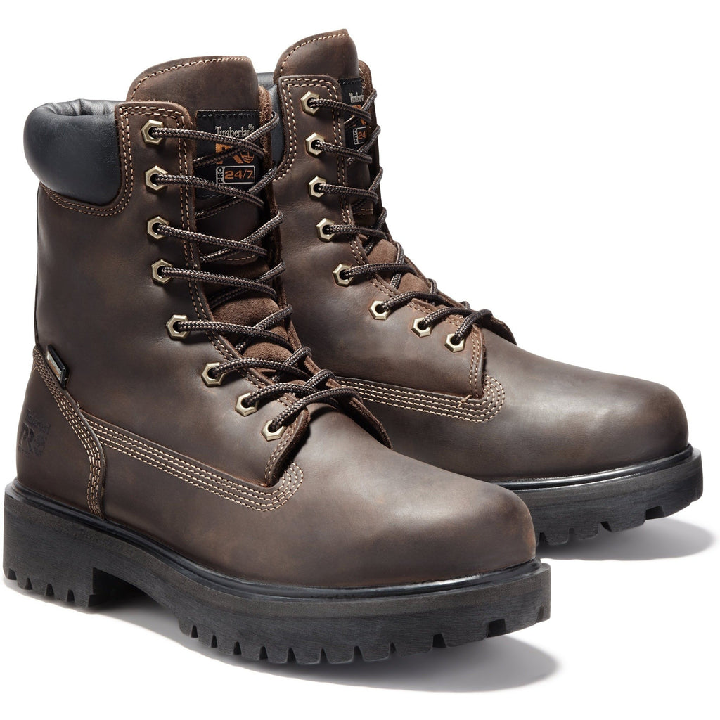 "Timberland PRO Men's Direct Attach 8"" WP Ins Work Boot - TB038022242 7 / Medium / Brown Oiled Full Grain - Overlook Boots"